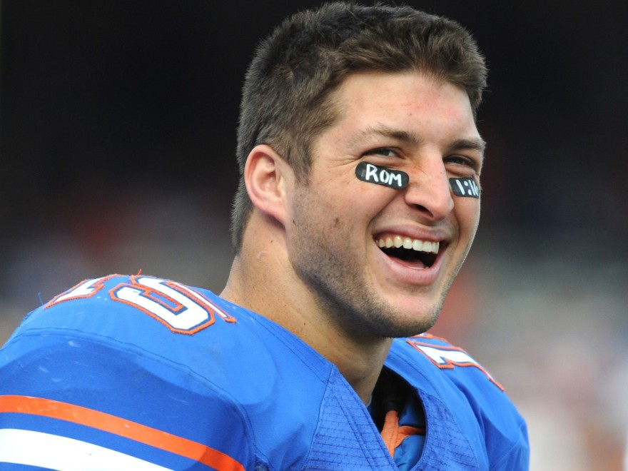 Tim Tebow regularly wore scriptured eye-black while playing football.